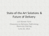 State of the Art Solution and the Future of Delivery (cover slide)