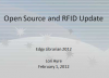 Open Source and RFID Update Title Slide