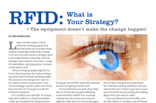 Screenshot of Lori's article titled 'RFID What is Your Strategy published in Strategic Library, Feb 2014