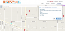 screenshot of the HistoricPlacesLA online map application