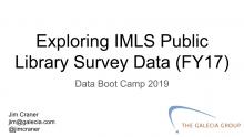 title slide for IMLS Library Survey Data webinar